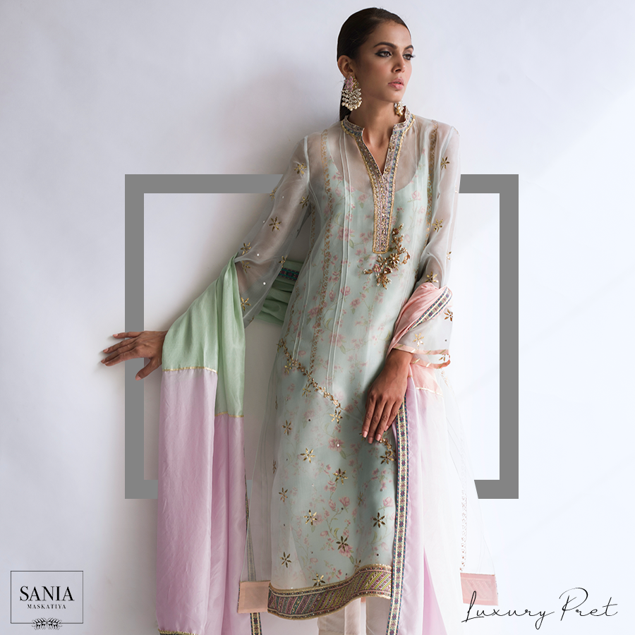 Awesome Caia Eid Dresses Sania Maskatiya 2018