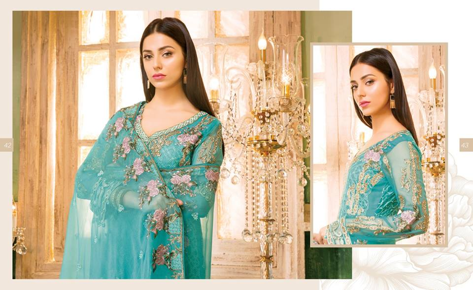 Best Ramsha Rangoon Embroidered Chiffon Suit 2018