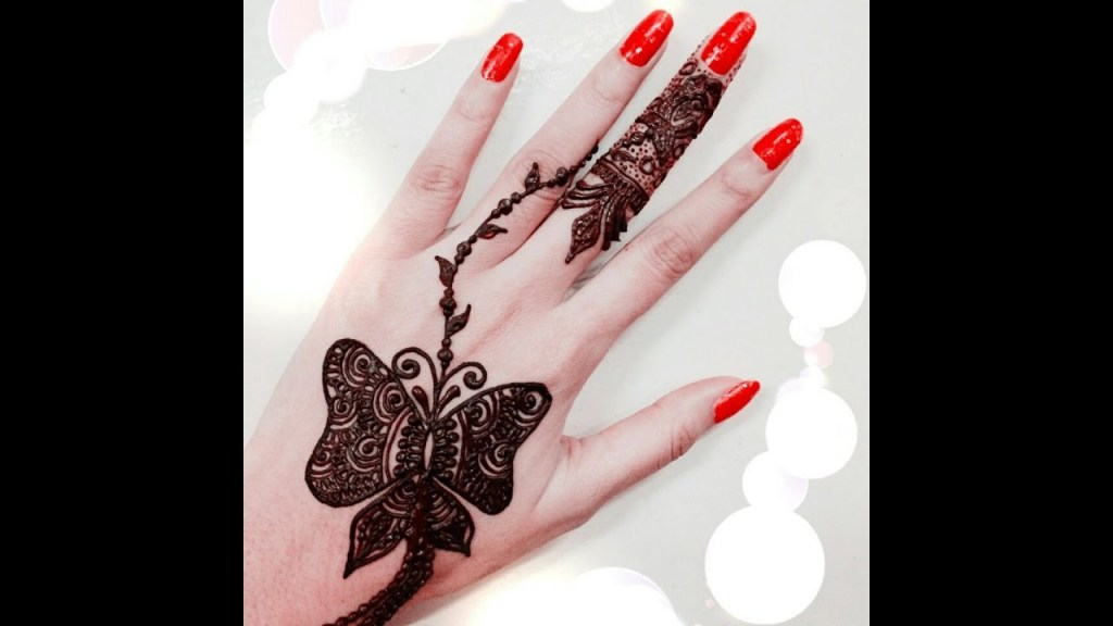 Butterfly Mehndi Designs Cute Ideas 2018