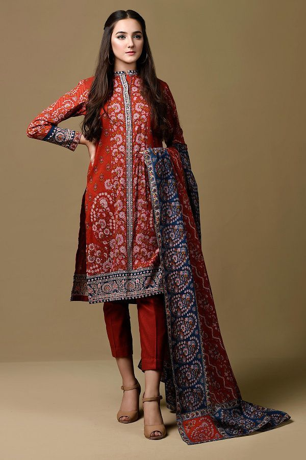 Kayseria Unstitched Printed Winter Dresses 2018