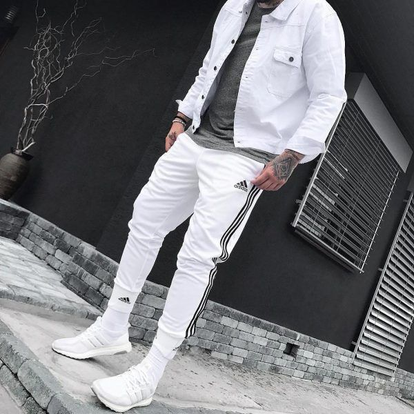 Menwear Fashion White Sneakers Design 2018