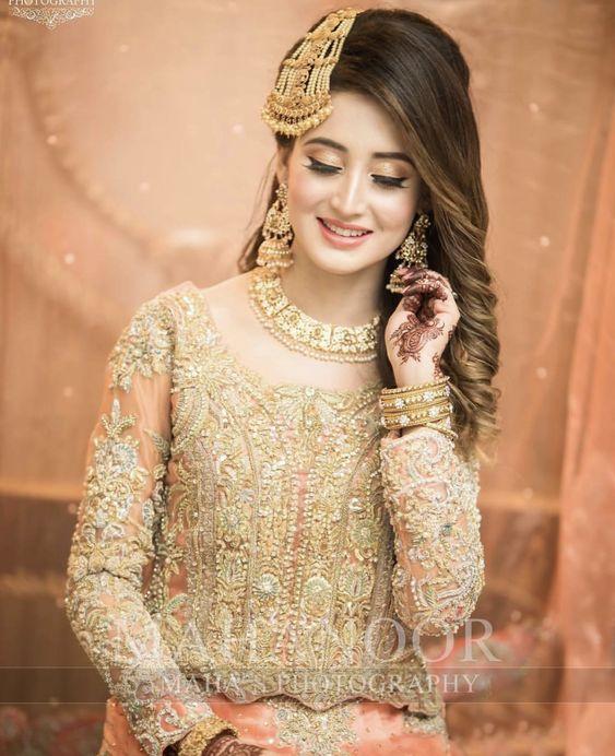 Mehndi Dresses Choice Pakistani Cute Brides 2019 (1