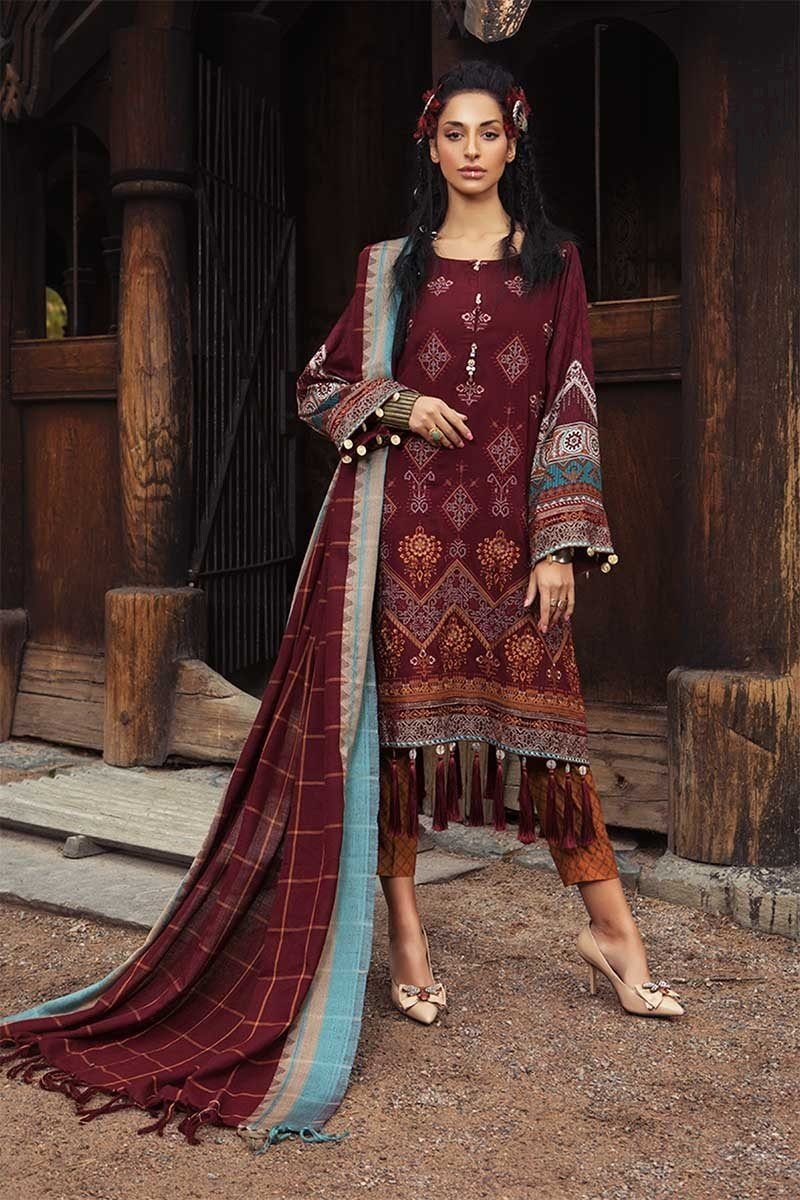 Maria B Winter Linen Charming Dresses Ideas 2019