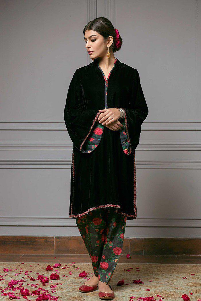 Zara Shahjahan Best Winter Velvet Design 2019