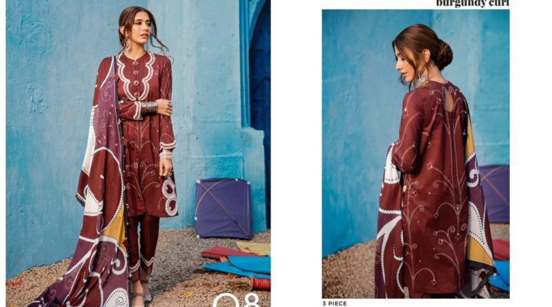 Excllent Cross stitched Lawn Suit for Spring Summer Vol-1