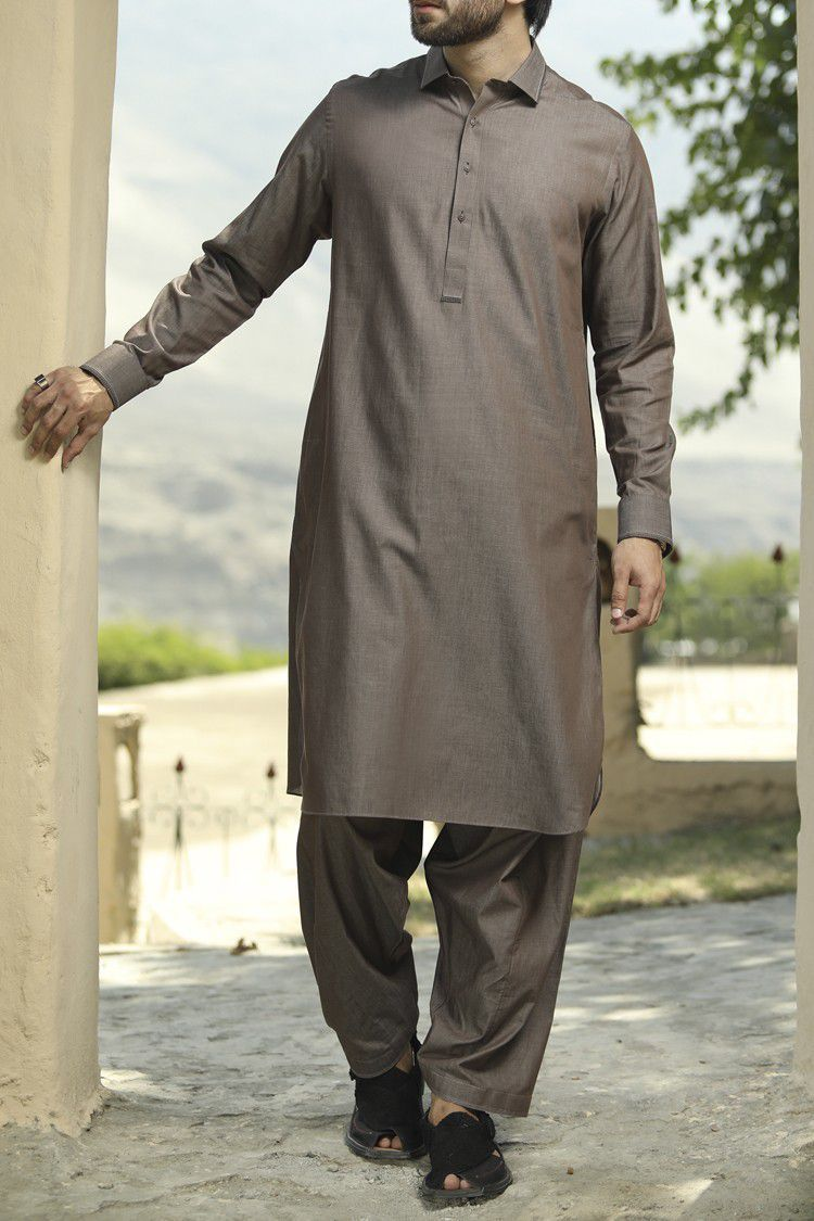 Excllent Shalwar Kameez By Wasim Akram Ethnic Wear Series Men's 2019