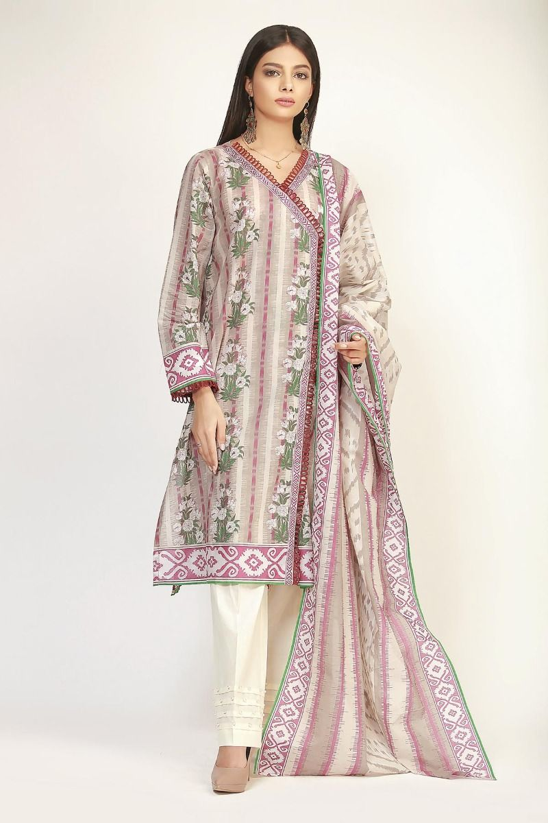 Onlain Khaadi Lawn  Spring Onlain Khaadi Lawn  Spring Summer Suit with Price TagSuit with Price Tag