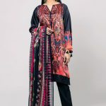 Onlain Khaadi Lawn Spring Summer Suit with Price TagOnlain Khaadi Lawn Spring Summer Suit with Price Tag