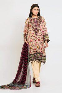 Stylish Khaadi Lawn unstitched Suit 2019