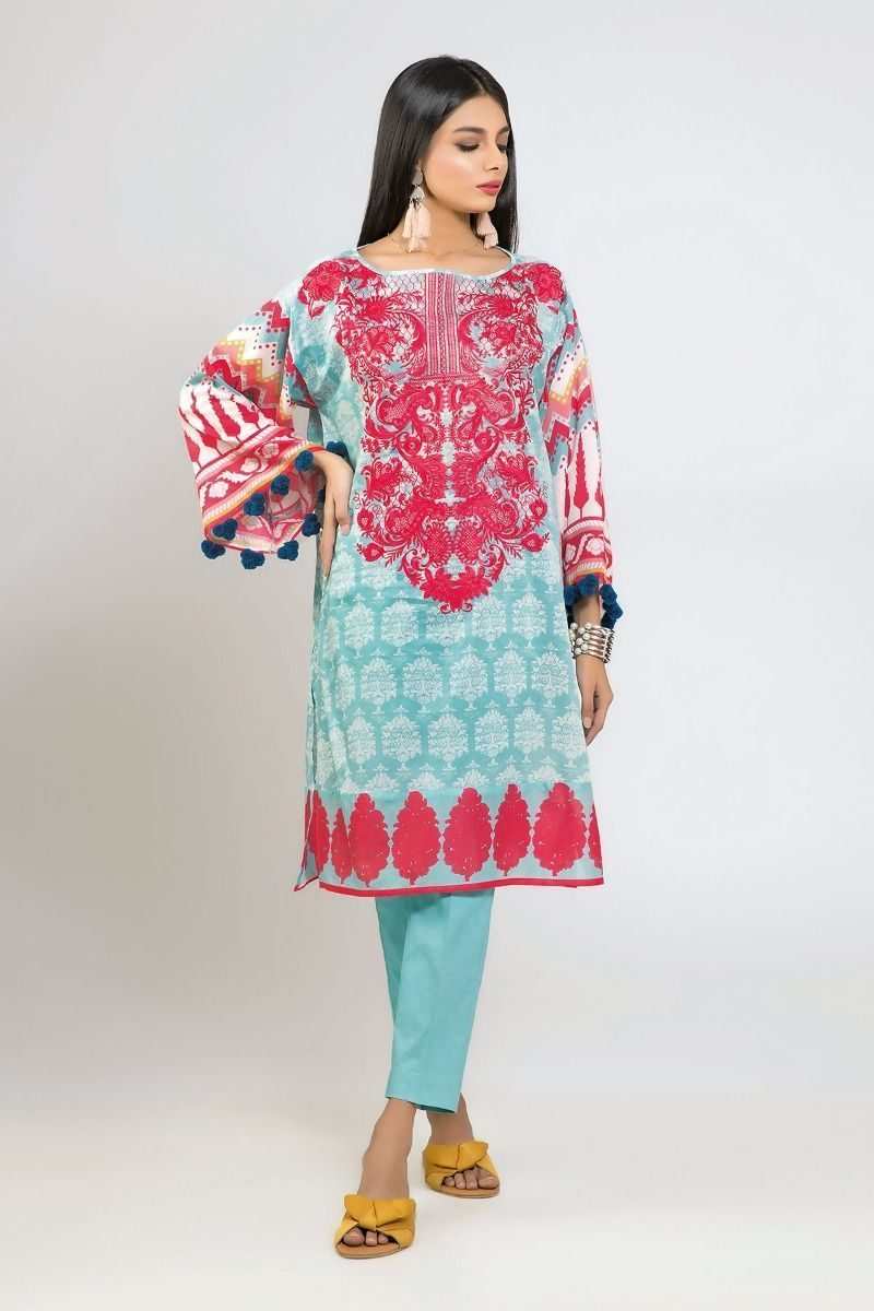 Stylish Khaadi Lawn unstitched Suit 2019Stylish Khaadi Lawn unstitched Suit 2019