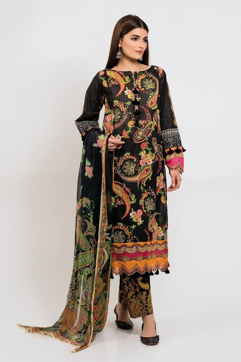 Stylish Khaadi Lawn unstitched Suit 2019