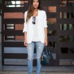 Onlain Casual Summer Outfits ideas to wear with Ripped Jeans