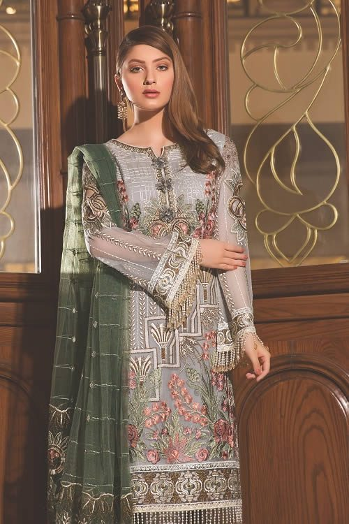Best Embroidered Chiffon Suit 2019 By Ramsha Brand