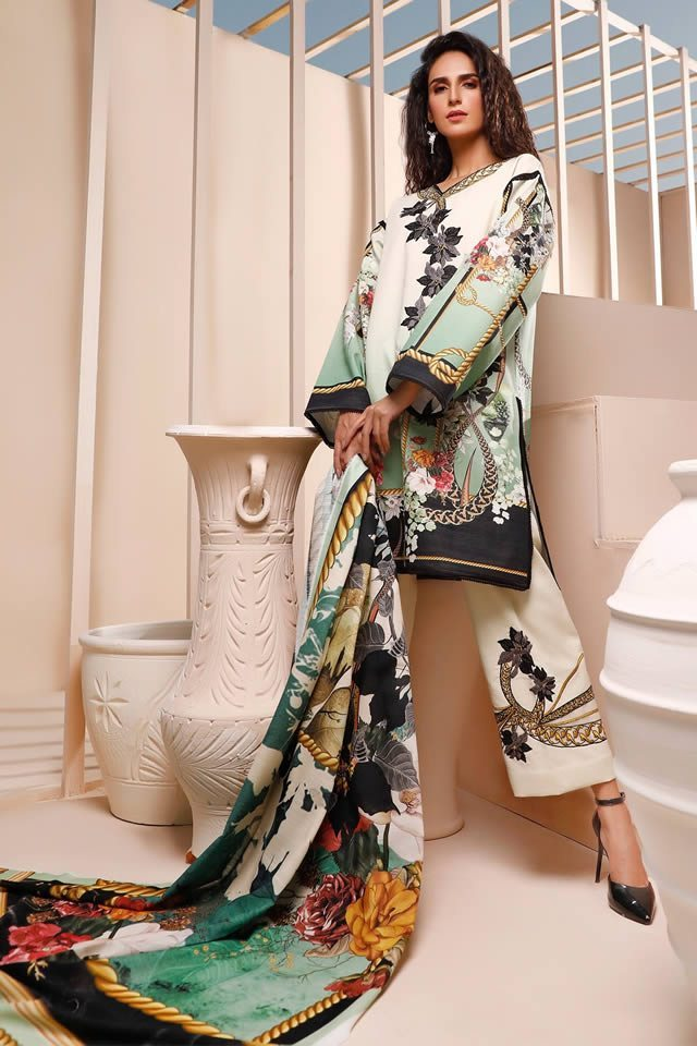 Firdous Digital Printed Khaddar Shirts Looking Design 2020