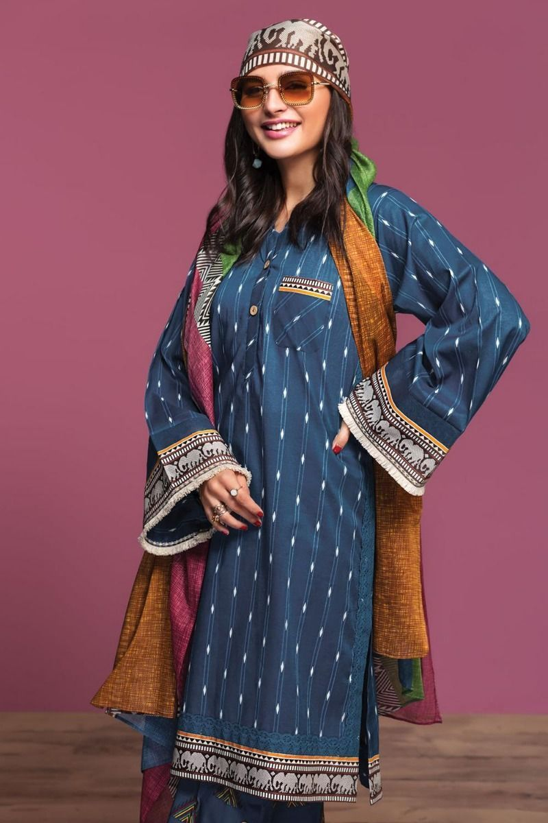 Awesome Nishat Linen Printed lawn Looking Color 2020