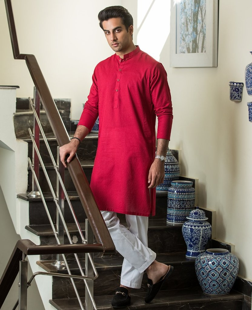 Ittehad Textiles Ready to Wear Mens Summer Kurta Look 2020