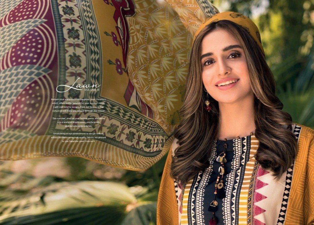 Awesome Sapphire Lawn Volume-II Eid Wear Look 2020