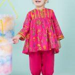 Ladli Kayseria Kids Printed Looking Frock Designs 2020