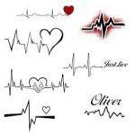 Amazing Tattoos Designs Heart Beat Looking Design 2020