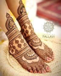 Stylish Mehndi On Foot Looking Style 2020