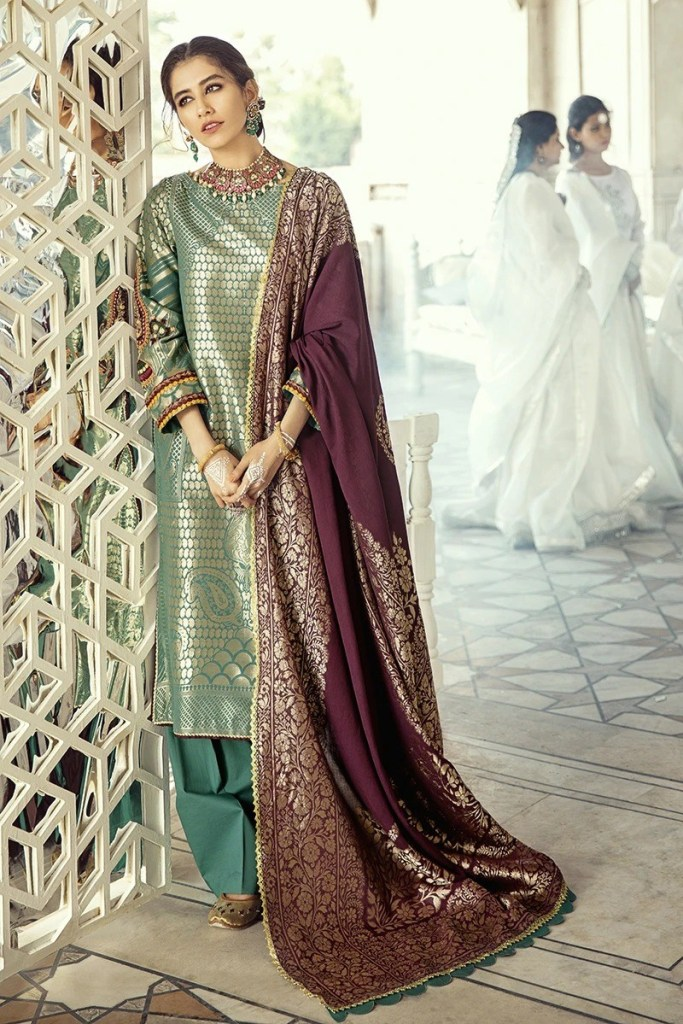 Cross Stitched Lawn Stylish Dresses For Girls Looking 2020