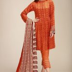 Khaadi Linen Unstitched Winter Collection Looking Dress 2020