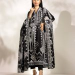Online Online Edenrobe Unstitched Black Suit Collection 2020