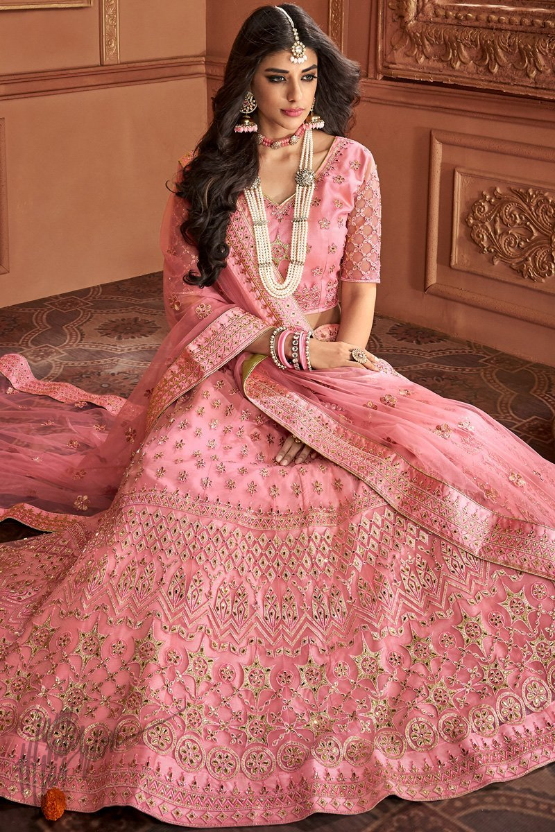 Pakistani Bridal Lehenga with New Color Scheme 2020