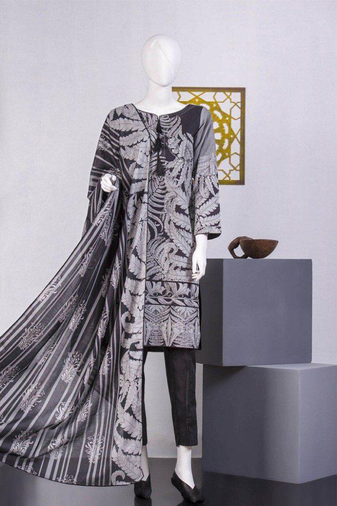 Tarzz Black & White Lawn Collection For Ladies 2020
