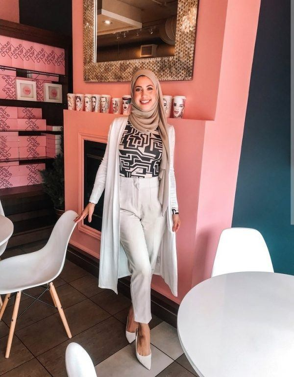 Casual Color Outfits With Hijab For Cute Girls Looking 2020