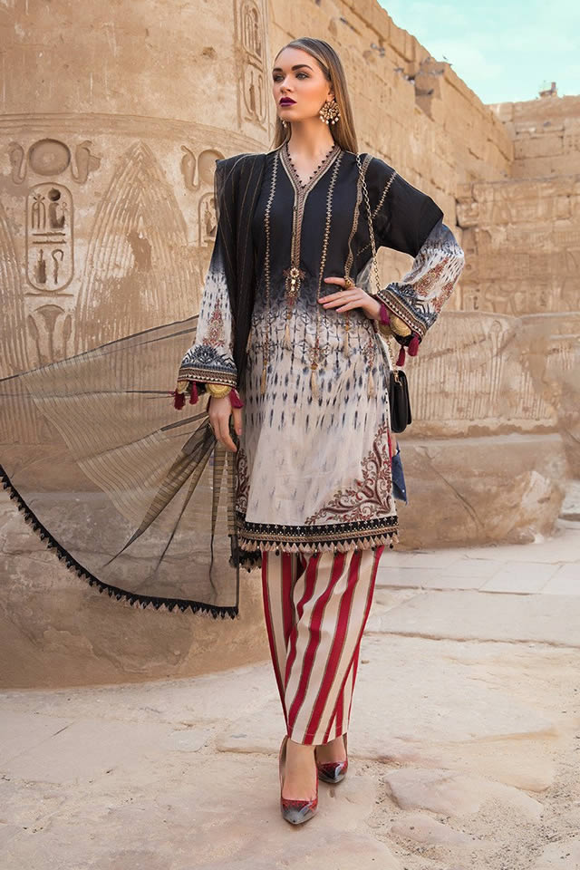 Maria B digital Printed lawn Shirts Girls Dresses 2020. Here you will discover Maria B computerized yard dresses comprises of tunic with leggings. Besides, ever