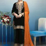 Awesome Bonanza Satrangi Winter Velvet Dresses Look 2020