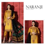 Awesome Charizma Naranji Unstitched Womens Clothes 2021