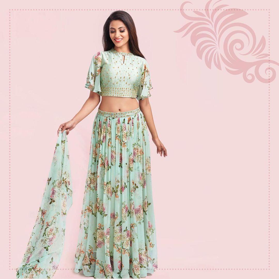 Awesome Style Lehenga Skirt For Mehendi Functions 2021