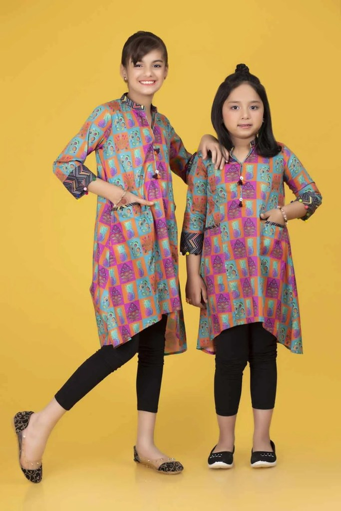 Bonanza Fashion Designer Kids Winter Looking Frock 2021