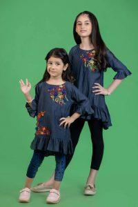 Bonanza Fashion Designer Kids Winter Looking Frock 2021