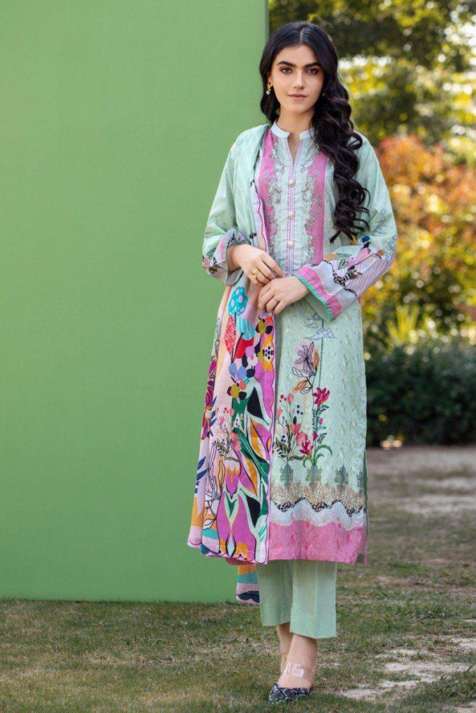 Gul Ahmed Winter Schiffli Embroidered Womens Dresses 2021