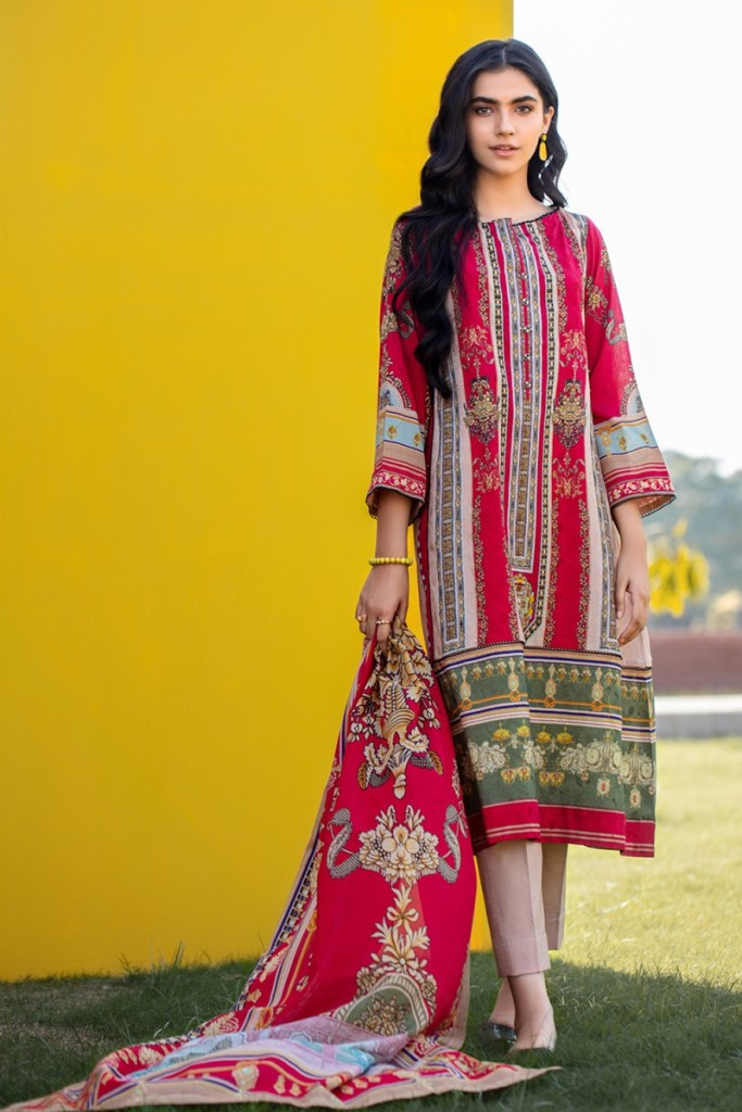Gul Ahmed Winter Schiffli Embroidered Womens Dresses 2021
