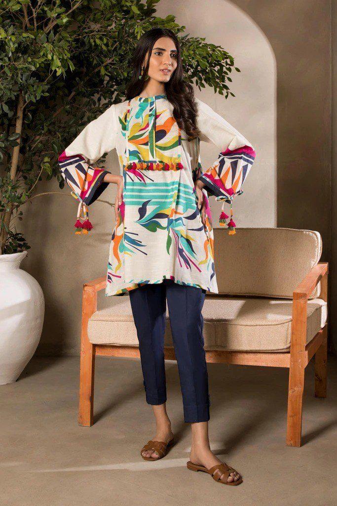 Latest Sapphire Winter Womens Kurti Design 2021
