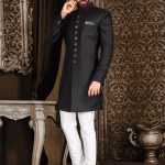 Top Brands Black Sherwani For Groom Look 2021