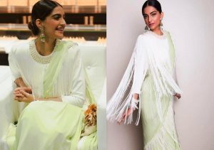 Bollywood Actress Wearing Celebrity Sarees In Wedding