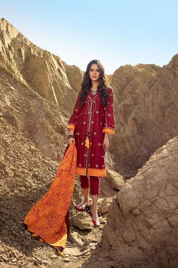 Gul Ahmed Lawn RoseLene Ideas Dresses For Valentine's Day