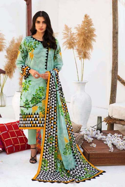 Bonanza Satrangi Lawn Designing 90s Fashioned for Women's