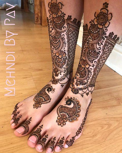 Fashion Stylist Foot Mehndi Designs 2021 - Gorgeous Look's