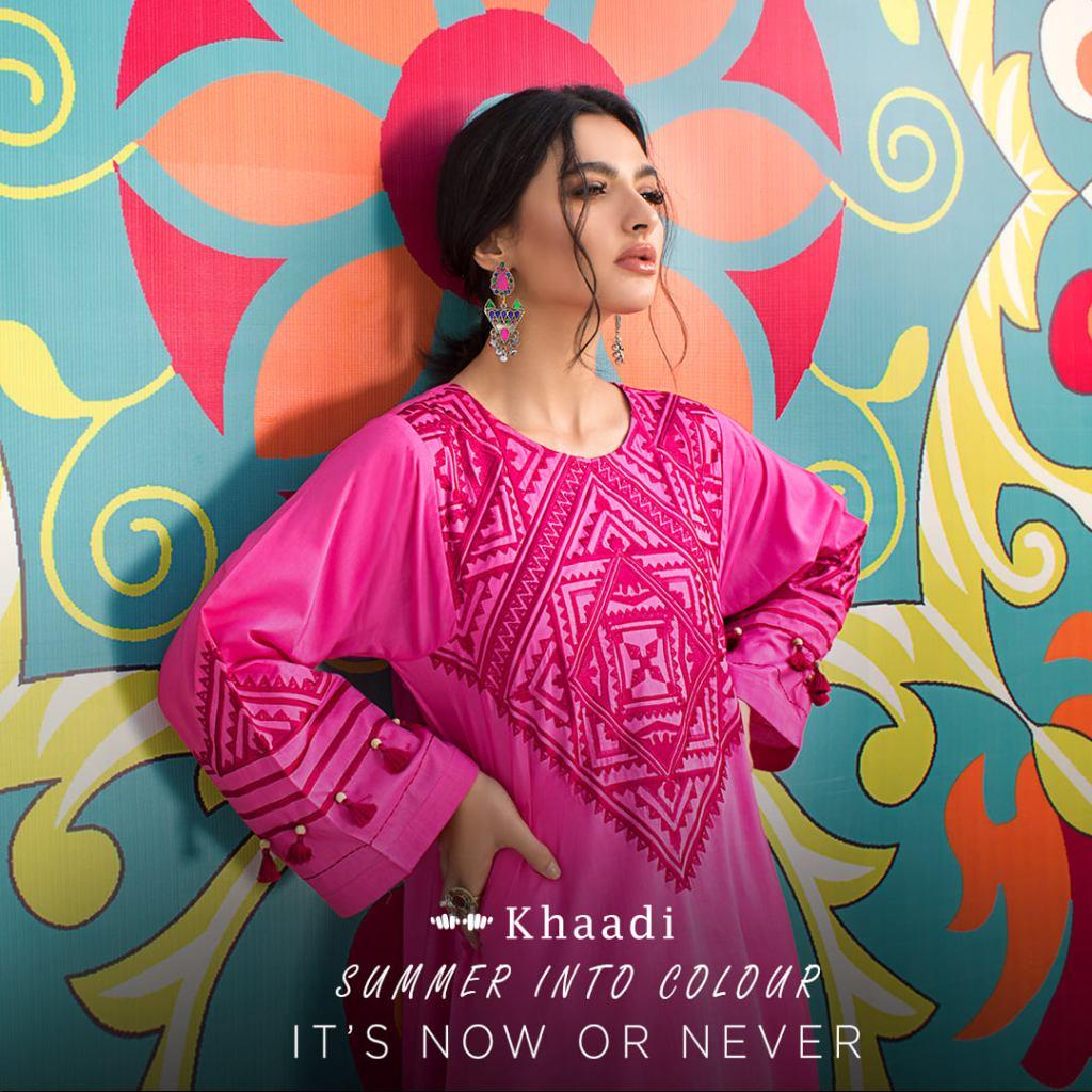 Old fashioned Khaadi Lawn prêt Designer Summer Kurtis 21s