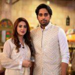 Pakistan Tv Actor Salman Saeed & Wife Aleena at Shan-e-Suhoor – Pices