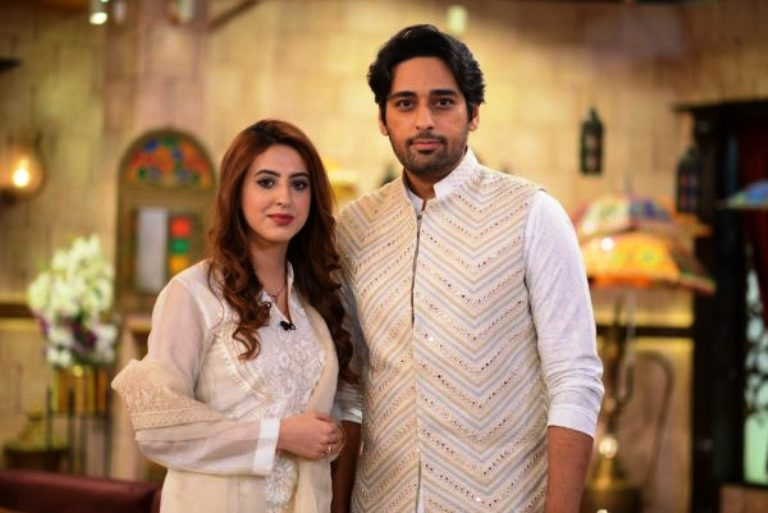 Pakistan Tv Actor Salman Saeed & Wife Aleena at Shan-e-Suhoor – Pices