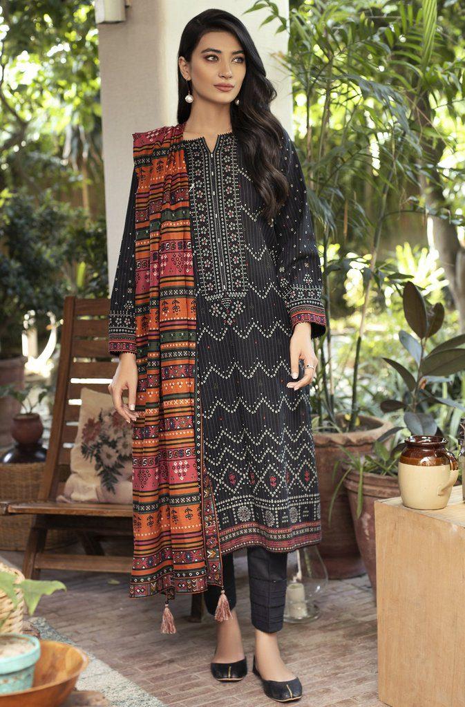 LSM Fabrics Fashion Mia Winter Khaddar Dress By Lakhani 2021'
