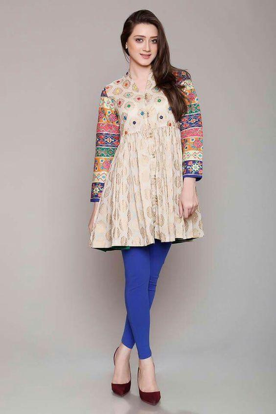 Elegant Winter Muslim Girls Frock Designs 2019