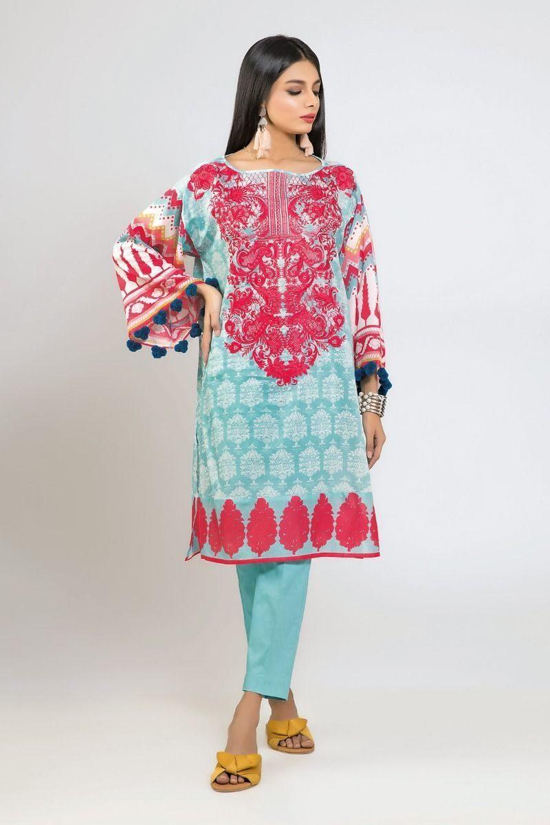 Stylish Khaadi Lawn unstitched Suit 2019Stylish Khaadi Lawn unstitched Suit 2019